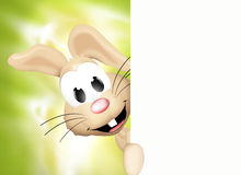 Easter bunny. Happy easter bunny light green bright graphic illustration design Royalty Free Stock Image