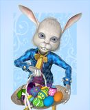 The Easter Bunny has Eggs to Share! Stock Photos
