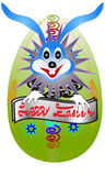 Easter bunny hatched from eggs Royalty Free Stock Photo