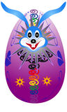 Easter bunny hatched from eggs Royalty Free Stock Photos