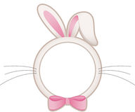 Easter bunny head frame Stock Photo