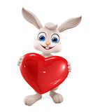 Easter bunny with Heart Royalty Free Stock Photo