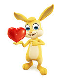 Easter Bunny with heart sign Royalty Free Stock Photography