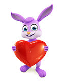 Easter Bunny with heart sign Royalty Free Stock Photos