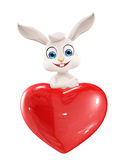 Easter Bunny with heart sign Stock Image