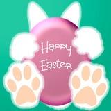 Easter bunny hello Stock Photos