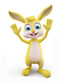 Easter Bunny with hi pose Royalty Free Stock Photo