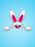 Easter bunny hiding in pocket Stock Photography