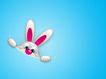 Easter bunny hiding in pocket Stock Image