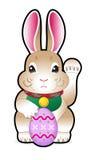 Easter bunny holding a easter egg stock photos