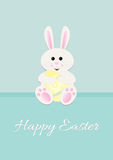 Easter Bunny holding Egg Stock Photography