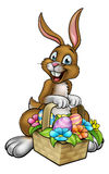 Easter Bunny Holding Egg Hunt Basket Royalty Free Stock Photography