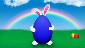 Easter Bunny holding easter egg royalty free stock photography