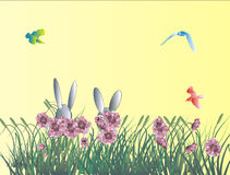Easter bunny holiday background Royalty Free Stock Photos