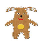 Easter bunny illustration of cookie Stock Images