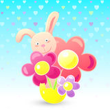 Easter bunny illustration Royalty Free Stock Images