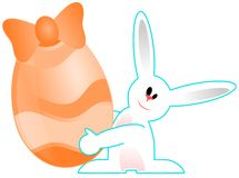 Smiling Easter bunny cartoon isolated Stock Images