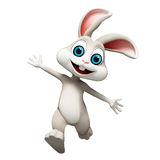 Easter Bunny jumping stock illustration