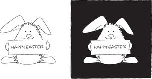 Easter bunny line drawing Royalty Free Stock Photo