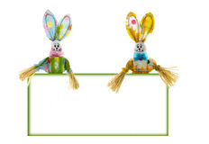 Easter bunny male and female Stock Photo