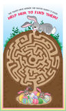 Easter Bunny Maze For Kids! Stock Photo