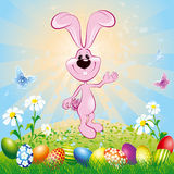 Easter Bunny On Meadow Royalty Free Stock Photography