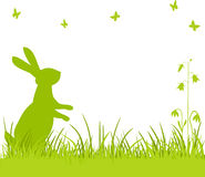 Easter bunny in the meadow royalty free illustration