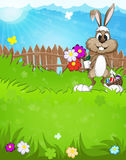 Easter Bunny in the meadow Royalty Free Stock Photo