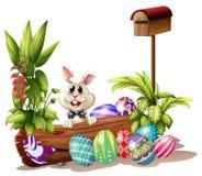 The easter bunny near the mailbox Stock Photos
