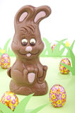Easter Bunny Of Chocolate Royalty Free Stock Images