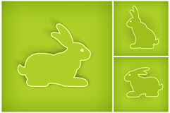 Easter Bunny On Green Stock Image