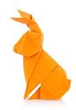 Easter bunny of orange origami Stock Photography