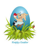 Easter  Bunny painted egg Stock Photography