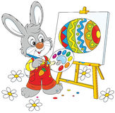 Easter Bunny painter Royalty Free Stock Image