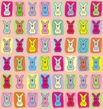 Easter bunny pattern background Stock Images