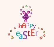 Easter bunny playful cute eggs fun humor card Stock Photos