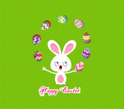 Easter bunny playful cute eggs fun humor Royalty Free Stock Photos