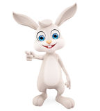 Easter Bunny with pointing pose Stock Image