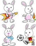 Easter Bunny Rabbit Set Royalty Free Stock Photos