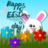 Easter bunny or rabbit Stock Photos