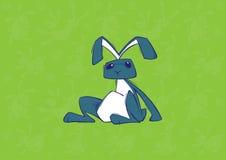Easter bunny reclining Royalty Free Stock Photo