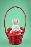 Easter bunny with red eggs Royalty Free Stock Images