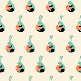 Easter Bunny Seamless Pattern Stock Photography
