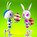Easter Bunny Robots Stock Photography