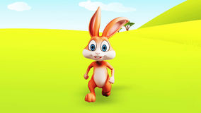 Easter Bunny running stock video footage