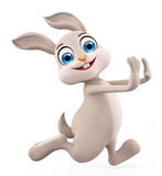 Easter Bunny with running pose Royalty Free Stock Images