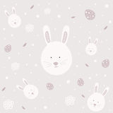 Easter bunny seamless pattern Royalty Free Stock Images