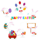 Easter Bunny Set Stock Photography