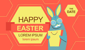 Easter bunny with shopping bag Stock Photo