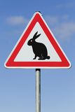Easter bunny sign Royalty Free Stock Photo
